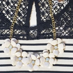 J Crew Floral Statement Necklace
